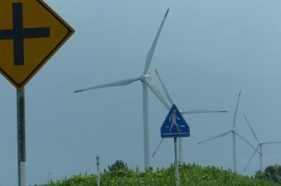 さすが日本海 風力発電が沢山