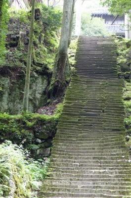 この階段も・・・いい被写体 和服で日傘の方でも歩いていると最高かな
