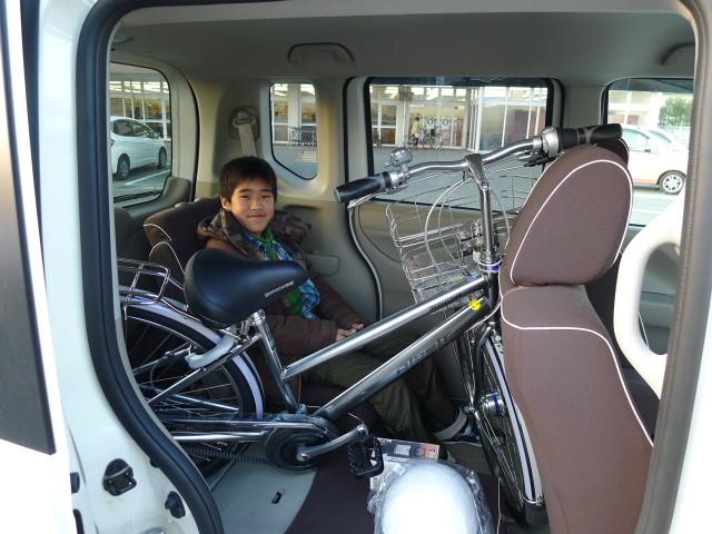 自転車積んでも3人乗れました