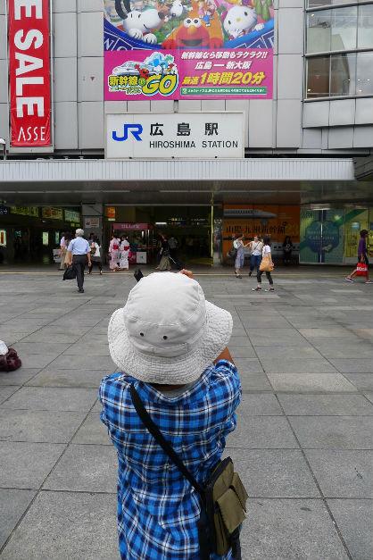 もちろん、広島駅の新幹線見学もコースの中に。