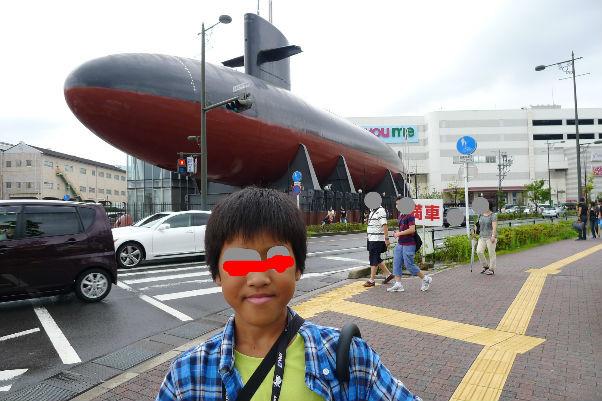ユメタウンの横に本物の潜水艦が・・・