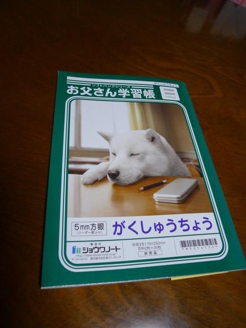 お父さん(私)は疲れたよ、SBでプレゼント中のノートも頂き満足の1日だったようです。