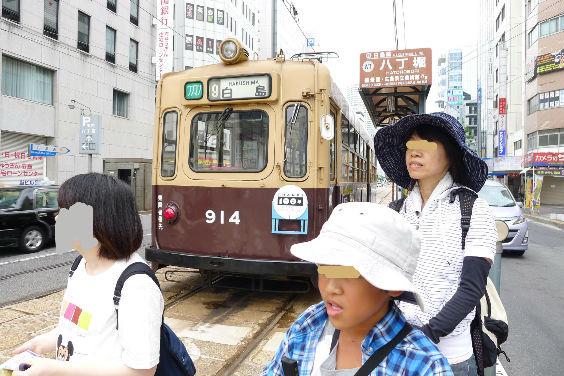 これは福岡市内を走っていたものでは・・・二人とも口が開いてます。