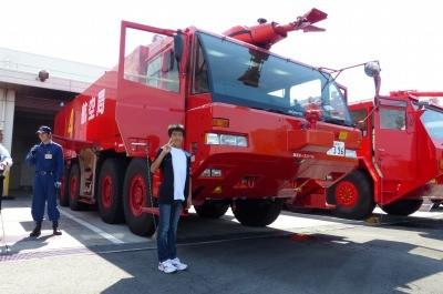 坊主と消防車