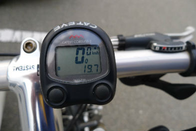 本日の走行距離19.7km 海風で思ったよりヘトヘトに