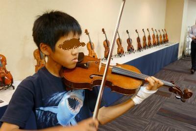 購入が決まったヴァイオリン110歳のオールド