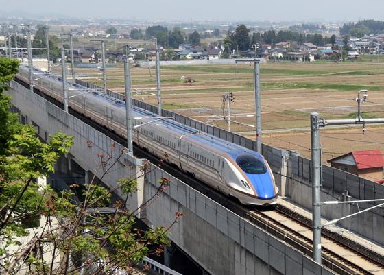 平成27年3月に開業した北陸新幹線