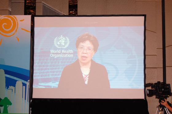 WHOマーガレット・チャン事務局長からのビデオメッセージ