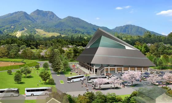 平成29年春オープン予定の「妙高高原体育館」