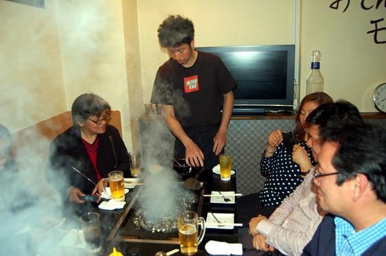 鉄板・お好み焼の夕食
