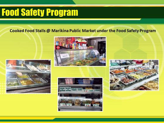 マリキナ市営市場での食の安全プログラム