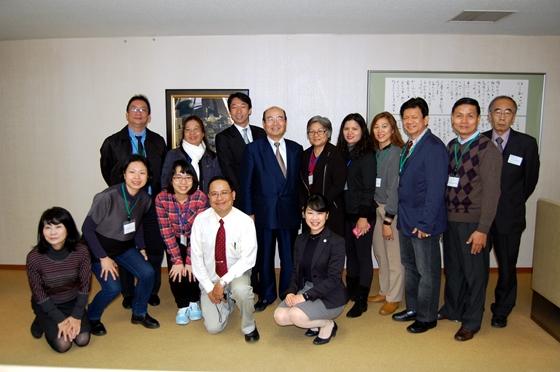 秋山市長との記念撮影