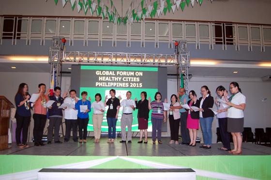 健康都市連合フィリピン支部発足の結団式