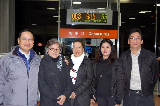 最終日翌日早朝、東京シティエアターミナルから帰国の途へ