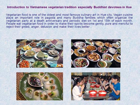 仏教徒のベジタリアンフード文化の継承