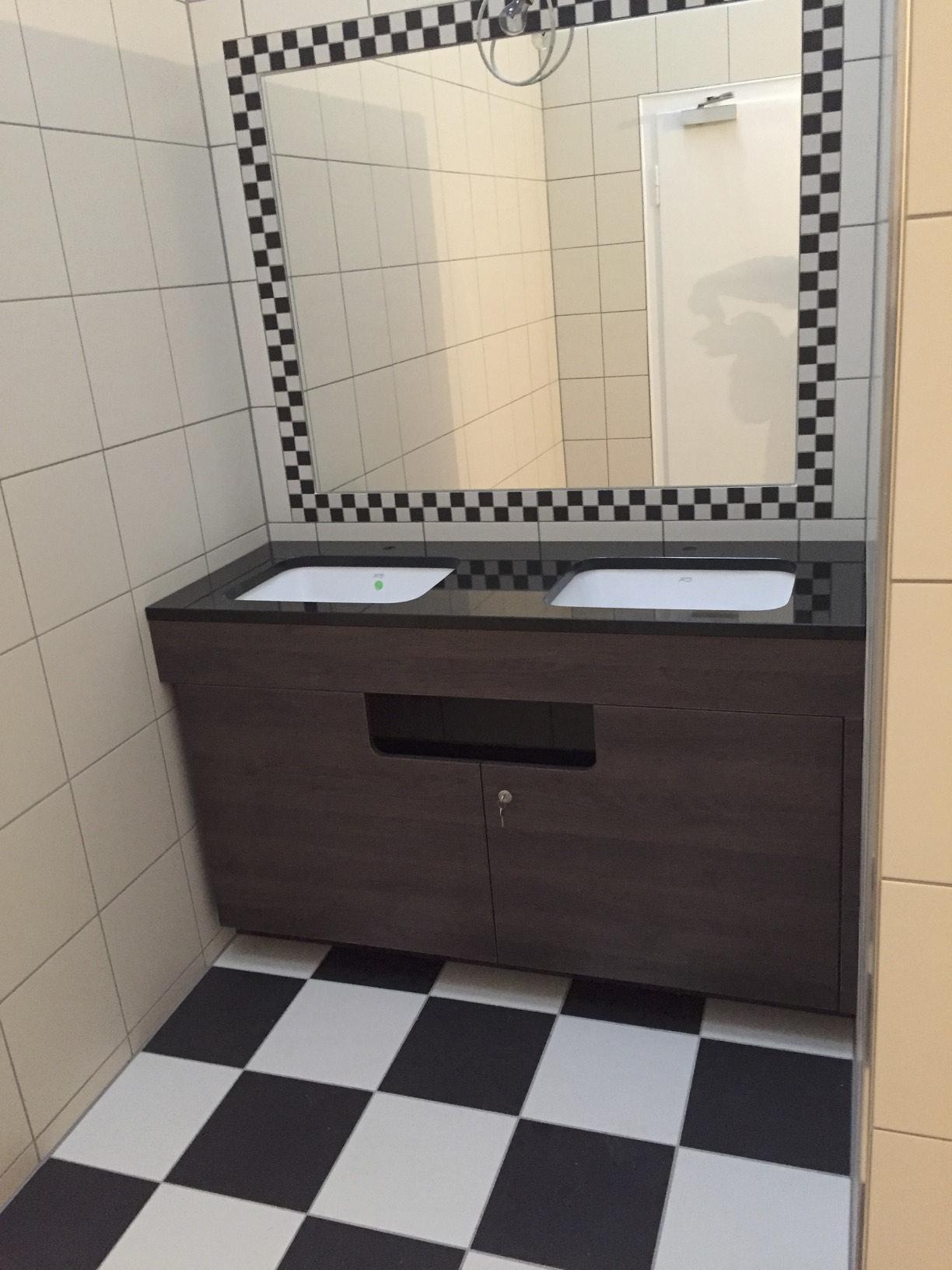 Waschtisch in einem Hotel in Heidelberg