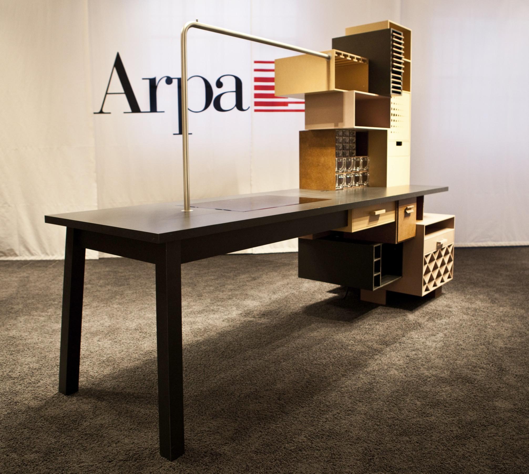 Showküche aus neuartigem Werkstoff, arpa naturalia, design week Milano