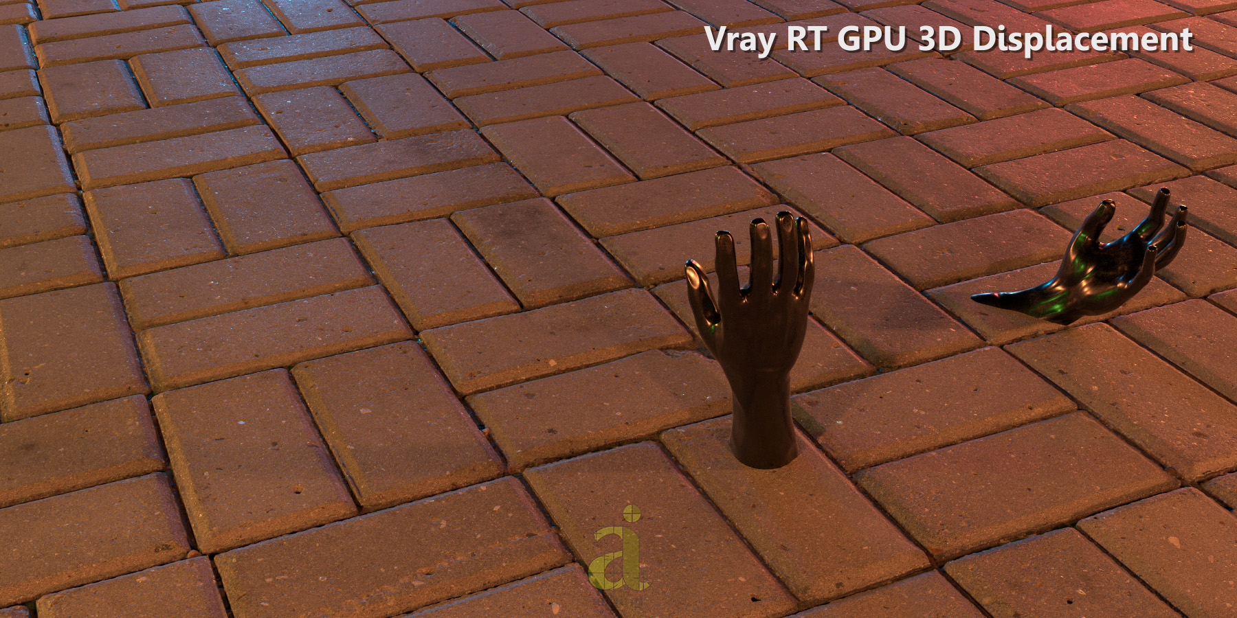 Vray RT GPU - Displacement Test