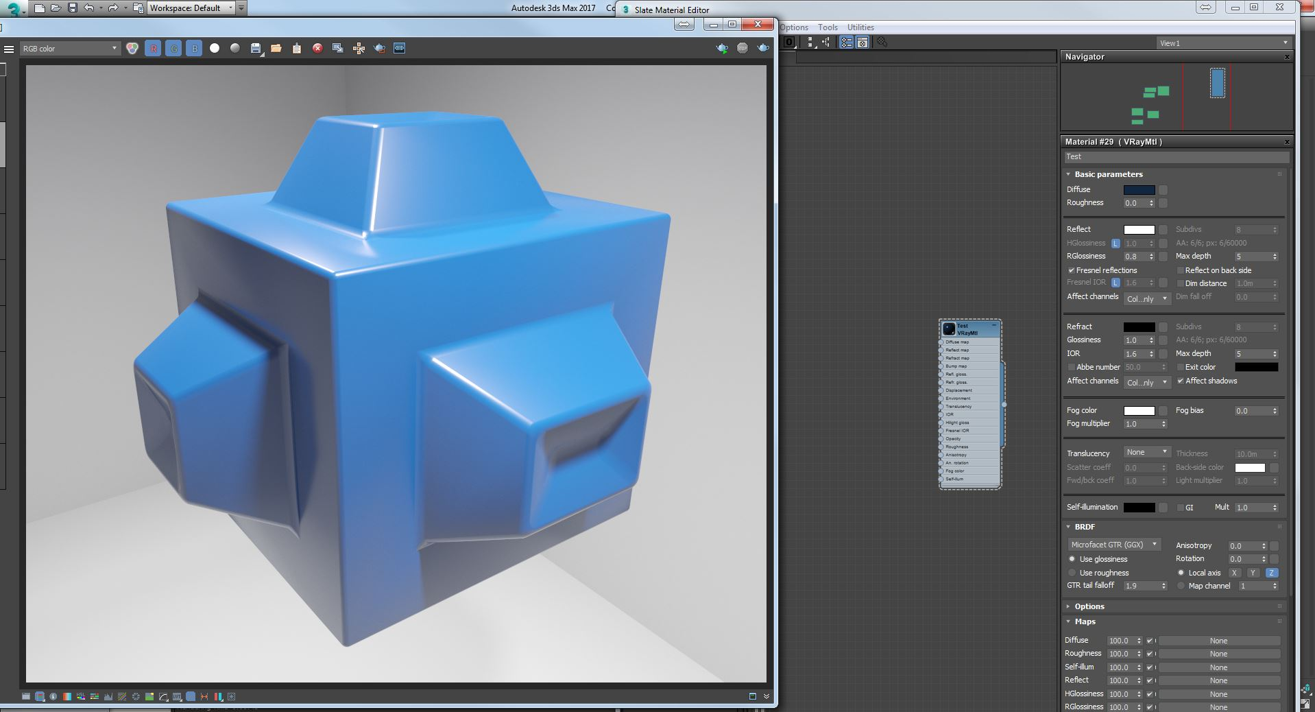 Simple Geometry with Diffuse and Reflections