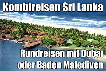 Sri Lanka Kombireisen Sri lanka Rundreise Malediven Badeurlaub
