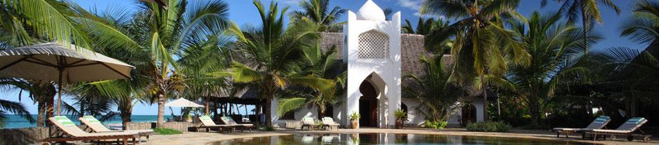 """beliebtes Komforthotel """"Sultan Sands Island Resort"""" all inclusive Urlaub Sansibar am feinsandigen Strand von Kiwengwa ...... hier als günstige Pauschalreise Sansibar zum Badeurlaub buchen ..."""