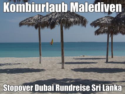 Kombiurlaub Malediven Stopover Dubai und Malediven mit Abu Dhabi