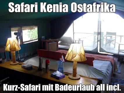 Kenia Kurz-Safari und Baden