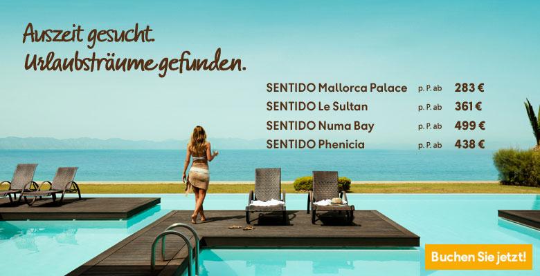 Urlaub im Sentido Hotel & Sentido Resorts mit Flug - jetzt hier Neckermann Pauschalreisen mit Frühbucher-Rabatt günstig buchen 2019