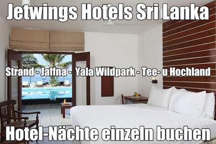 Jetwing Hotel Negombo Sri Lanka Galle St.Andrew's Nuwara Eliya Jaffna Yala Wildpark direkt buchen