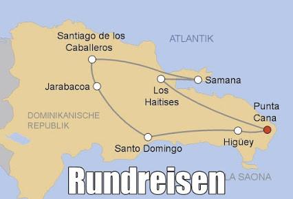 Urlaub Dominikanische Republik Rundreise und Baden