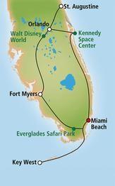 Florida Rundreise mit Baden Miami Beach  und Flug