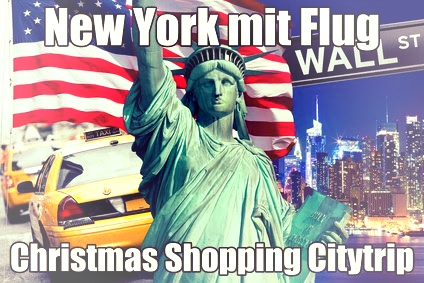 New York Shoppingreise  Christmas Shopping in New York mit Flug Airbus A380
