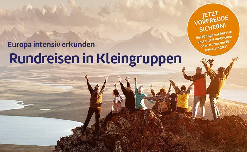 Rundreisen in Kleingruppen von Berge & Meer in Europa Rundreisen 2021 & SKR Fernreisen mit unserer Expertenberatung online buchen