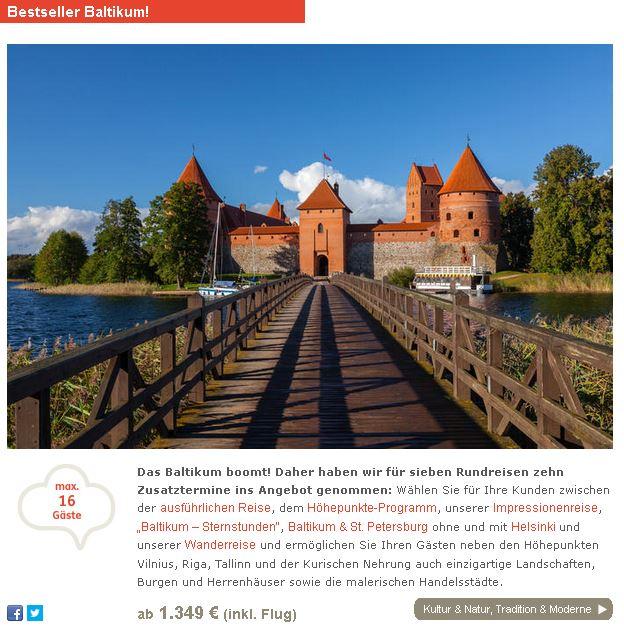Kleingruppen-Rundreise Baltikum 2021 mit Tallin, Riga und Vilnius, Gruppenreise Baltikum mit St. Petersburg Russland und Helsinki Finnland incl. Flug Sommerurlaub 2020