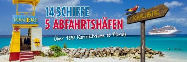Kreuzfahrt Miami Bahamas einzeln und Karibik Kreuzfahrt ab Florida mit Flug