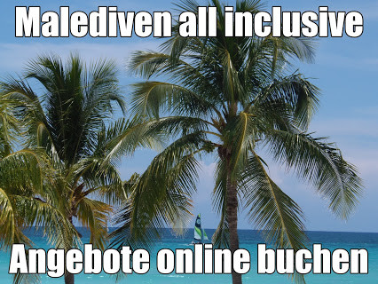 Malediven Urlaub last minute maledives Villen Bungalows am Strand mit all inclusive mit Flug