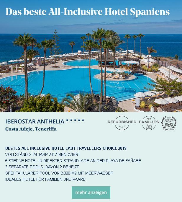 Das beste all inclusive Hotel Spaniens hier Angebote Iberostar Luxushotels und Iberostar 4-Sterne Komforthotels Teneriffa, Lanzarote, Mallorca, Ibiza, Kanarische Inseln buchen