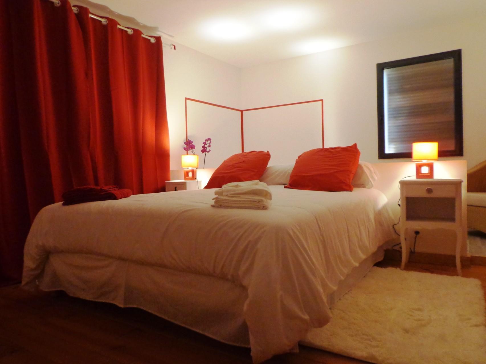 Chambre Romantique de La Grange du Coulin, maison d'hôtes à Onesse et Laharie dans les Landes, Gîtes de France Landes 3 épis