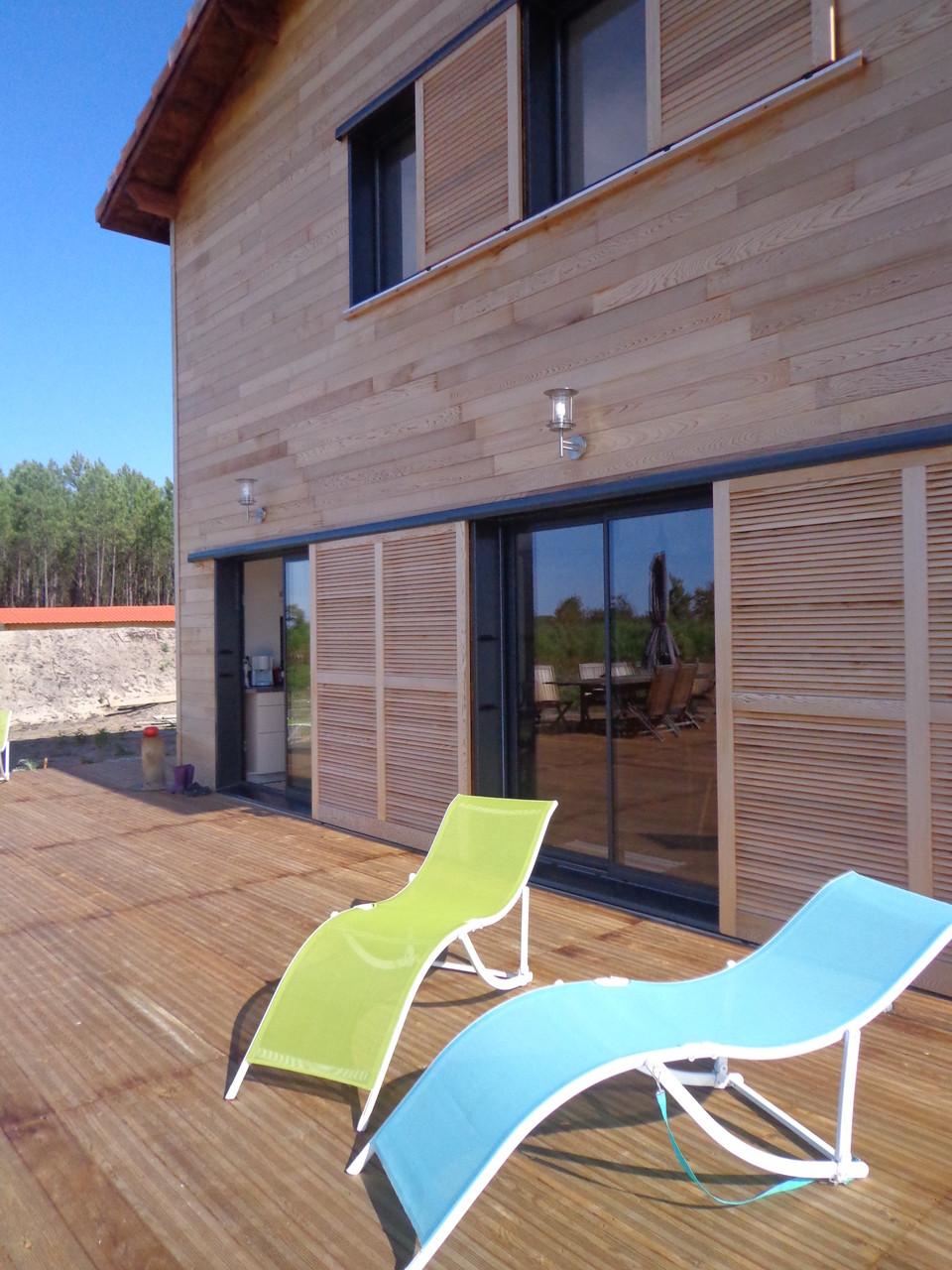 Terrasse de la Grange du Coulin, maison d'hôtes à Onesse et Laharie dans les Landes, Gîtes de France Landes 3 épis