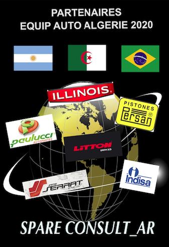 JUNTAS ILLINOIS, SERRAT, PAULUCCI, PERSAN, LITTON Argentina & INDISA Brasil au salon/ en la feria/ in the fair EQUIP'AUTO ALGERIE (03/2020) avec SPARECONSUL_AR