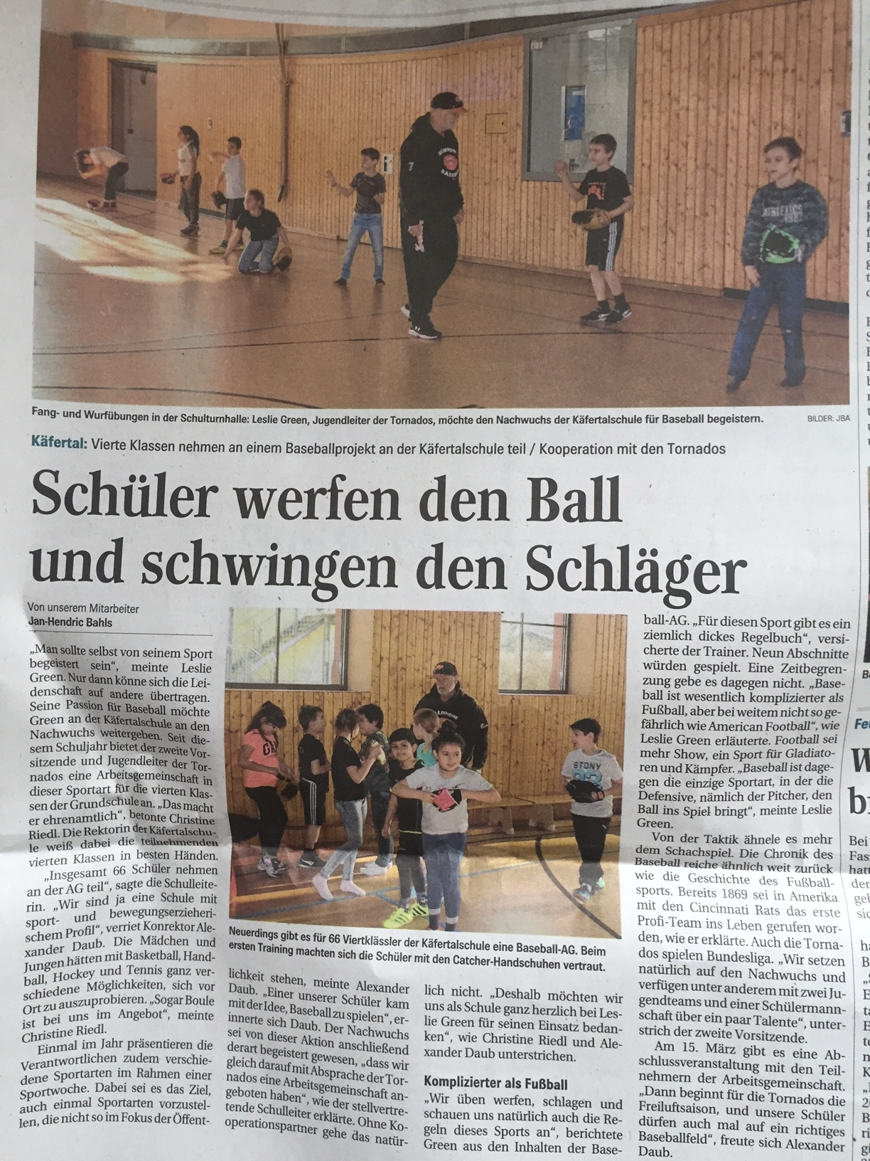 BASEBALL - Käfertalschule Mannheim