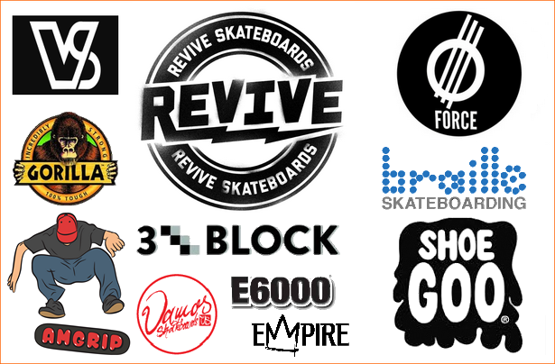 VMS Distribution Brands Germany, Austria & All of Europe - Revive Force 3Block Braille Shoe Goo Eclectic Gorilla AmGrip Vamos MoTIV