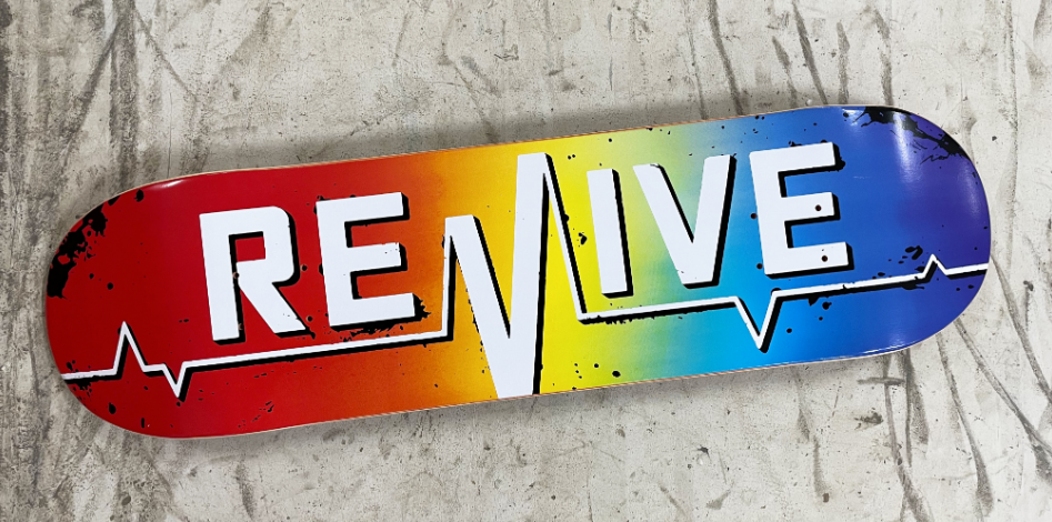 VMS Distribution Europe - Revive Skateboards Rainbow Lifeline Deck + free Griptape - Revive Winter 2020/2021 Now Available in Germany, Austria & All over Europe through VMS Distribution. Fast Shipping all over Europe