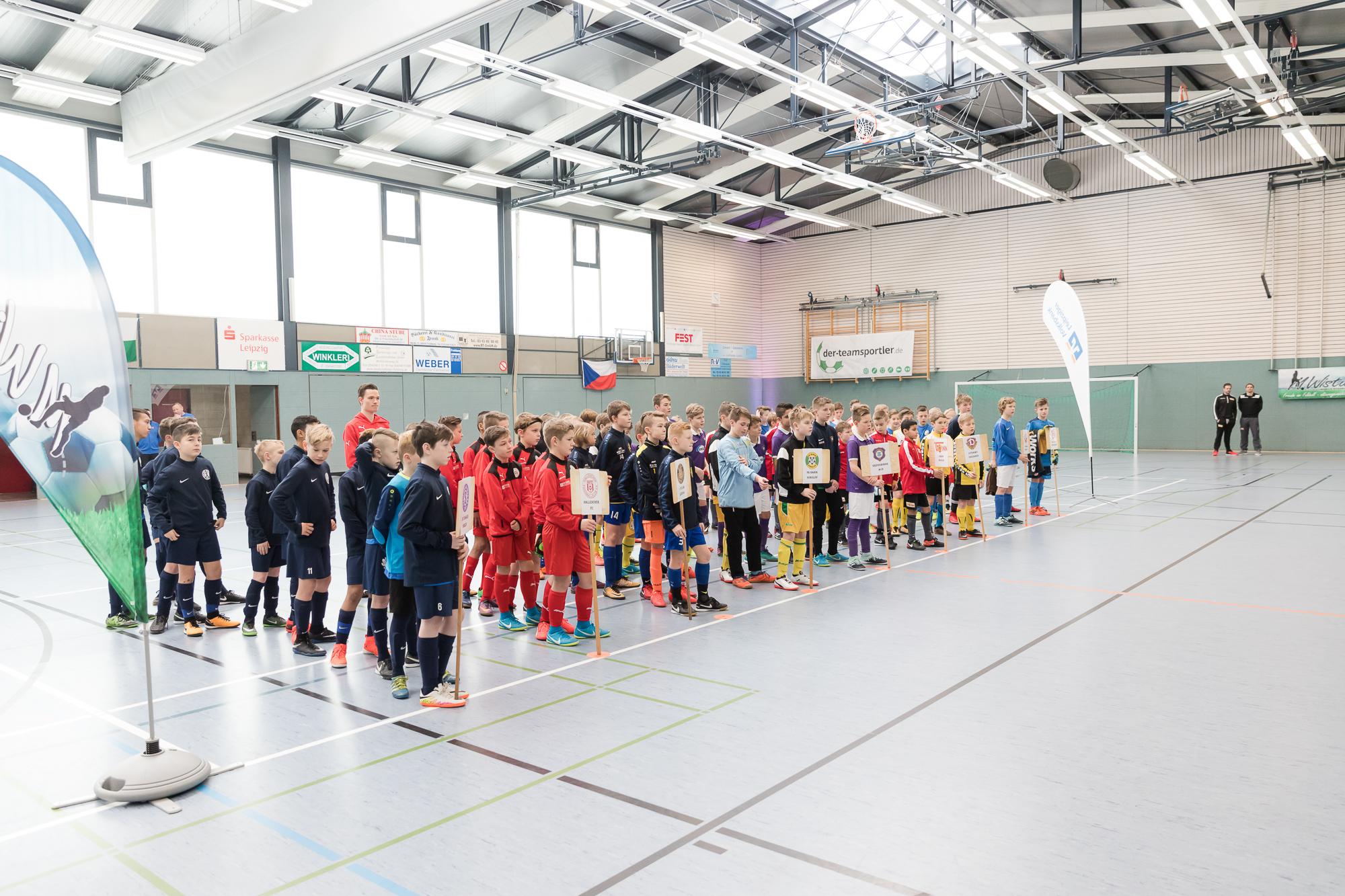 Eröffnung 2. Internationaler Hallencup U12 in Frohburg 240218