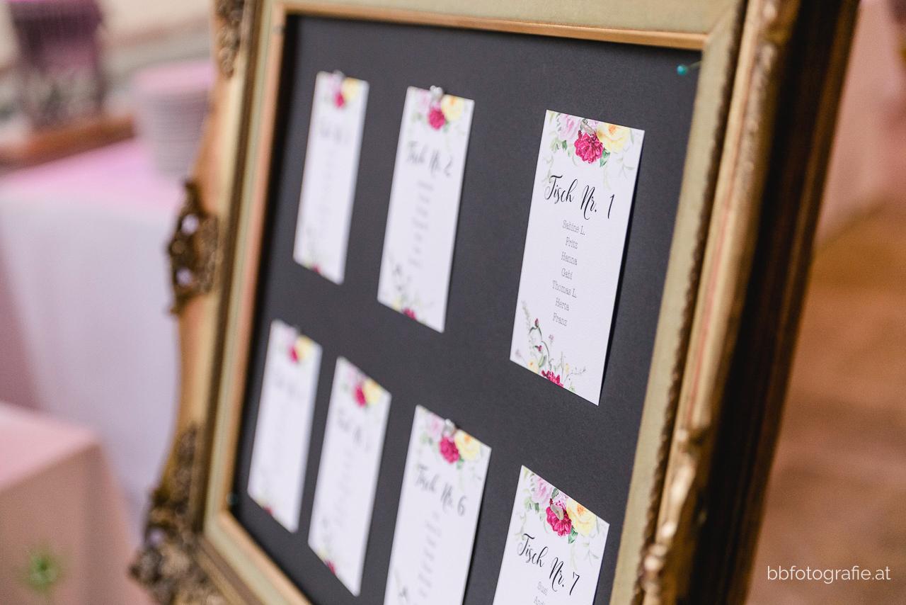 Hochzeitsfotograf, Hochzeitsfotograf Burgenland, Hochzeit Schloss Esterhazy, Hochzeit Orangerie Schloss Esterhazy, Sitzordnung, Hochzeitspapeterie, Hochzeitslocation Burgenland, b&b fotografie