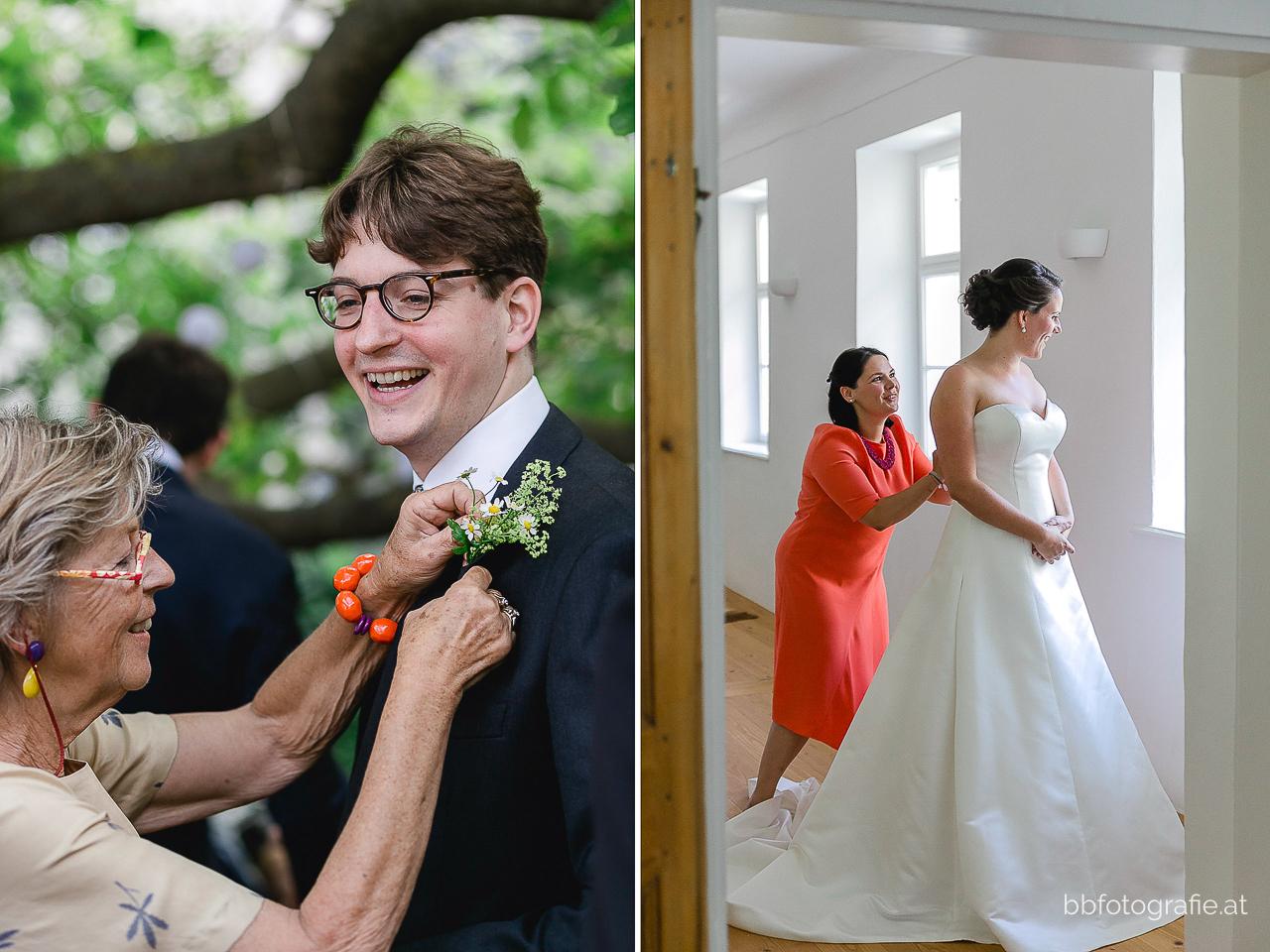 Hochzeitsfotograf, Hochzeitsfotograf Niederösterreich, Hochzeitslocation Niederösterreich, Getting-Ready, Hochzeitslocation Gut Oberstockstall, Hochzeit kleine Kapelle, Gartenhochzeit, b&b fotografie