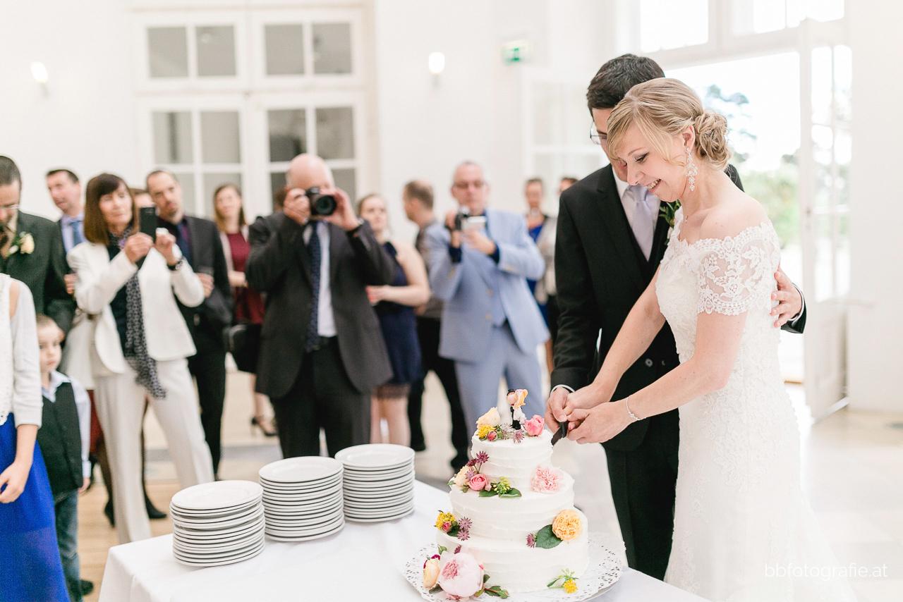 Hochzeitsfotograf, Hochzeitsfotograf Burgenland, Hochzeit Schloss Esterhazy, Hochzeit Orangerie Schloss Esterhazy, Tortenanschnitt, Hochzeitslocation Burgenland, b&b fotografie