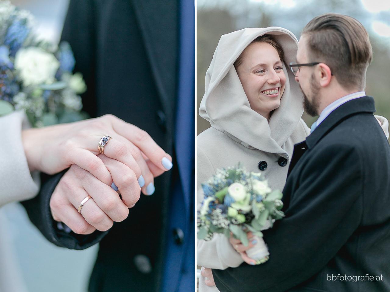 Hochzeitsfotograf, Hochzeitsfotograf Niederösterreich, Hochzeitslocation Niederösterreich, Winterhochzeit, Brautpaar, Paarshooting, Hochzeitslocation Schloss an der Eisenstrasse, b&b fotografie