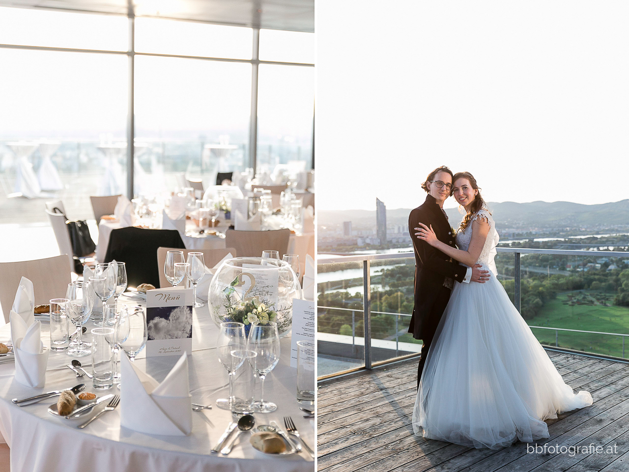 Hochzeitsfotograf, Hochzeitsfotograf Wien, Hochzeitslocation Wien, Hochzeitslocation Wolke 21, Hochzeit in Wien, Brautpaar, Paarshooting, Hochzeit mit Ausblick, b&b fotografie