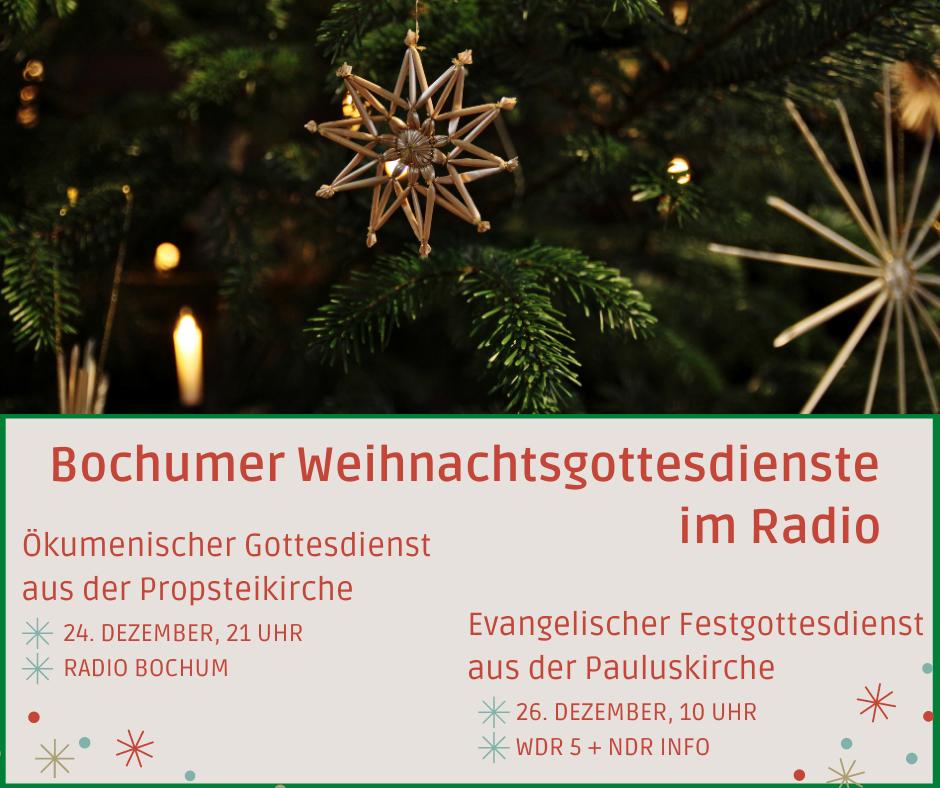Bochumer Weihnachtsgottesdienste im Radio